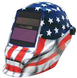 Sellstrom Auto Darkening Welding Helmet, Blue/Red/White, Tri