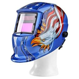 Flexzion Auto Darkening Welding Helmet Solar Powered Weld/Gr