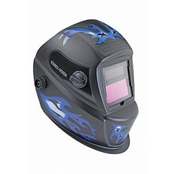 Auto Darkening Welding Helmet with Blue Flame Design by Chic