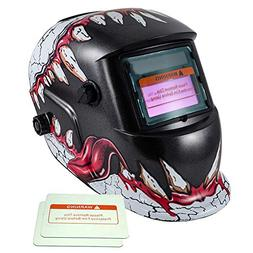 iMeshbean Solar Power Auto Darkening Welding Helmet with Wid