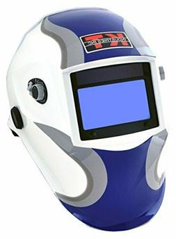 K-T Industries 4-1072 Auto Darkening Welding Helmet, Cool Bl