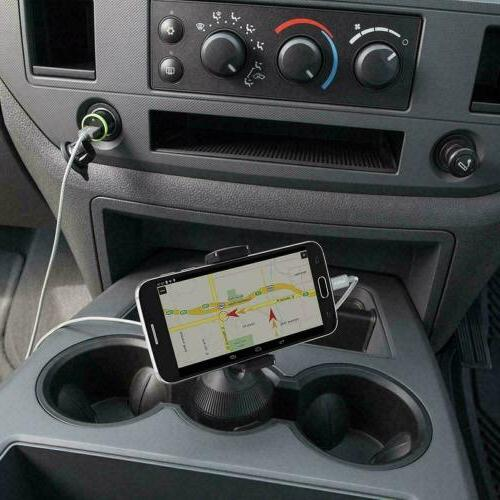 360 Cup Holder Stand Cradle Mount For Cell Universal