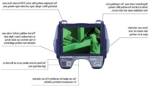 3M Welding Helmet 9100, with Hat, SideWindows and Speedglas Auto-Darkening Filter 9100V, Shades