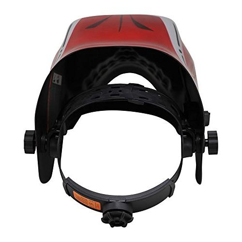 Neiko Helmet MMA, | Solar and Battery Red