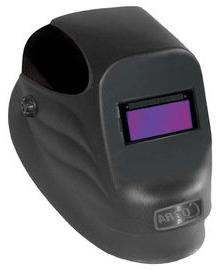 "Radnor 64005100 24S-Black Welding Helmet with 2"" X 4 1/4"" Fi"