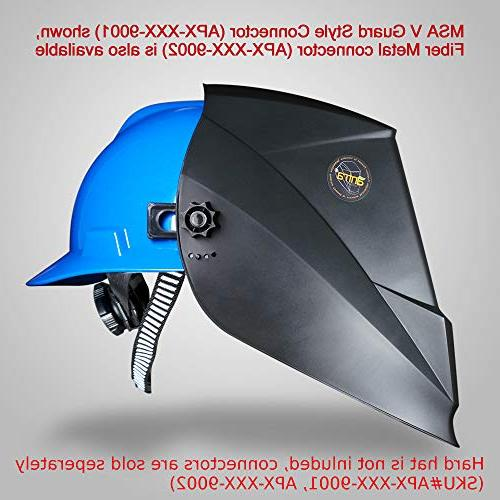 Antra AH7-X90-0000 Class 1/1/1/1 Controlled Solar Powered Welding Helmet 4/5-9/9-13 With Extra Lens Covers for TIG, MIG, MMA,Plasma