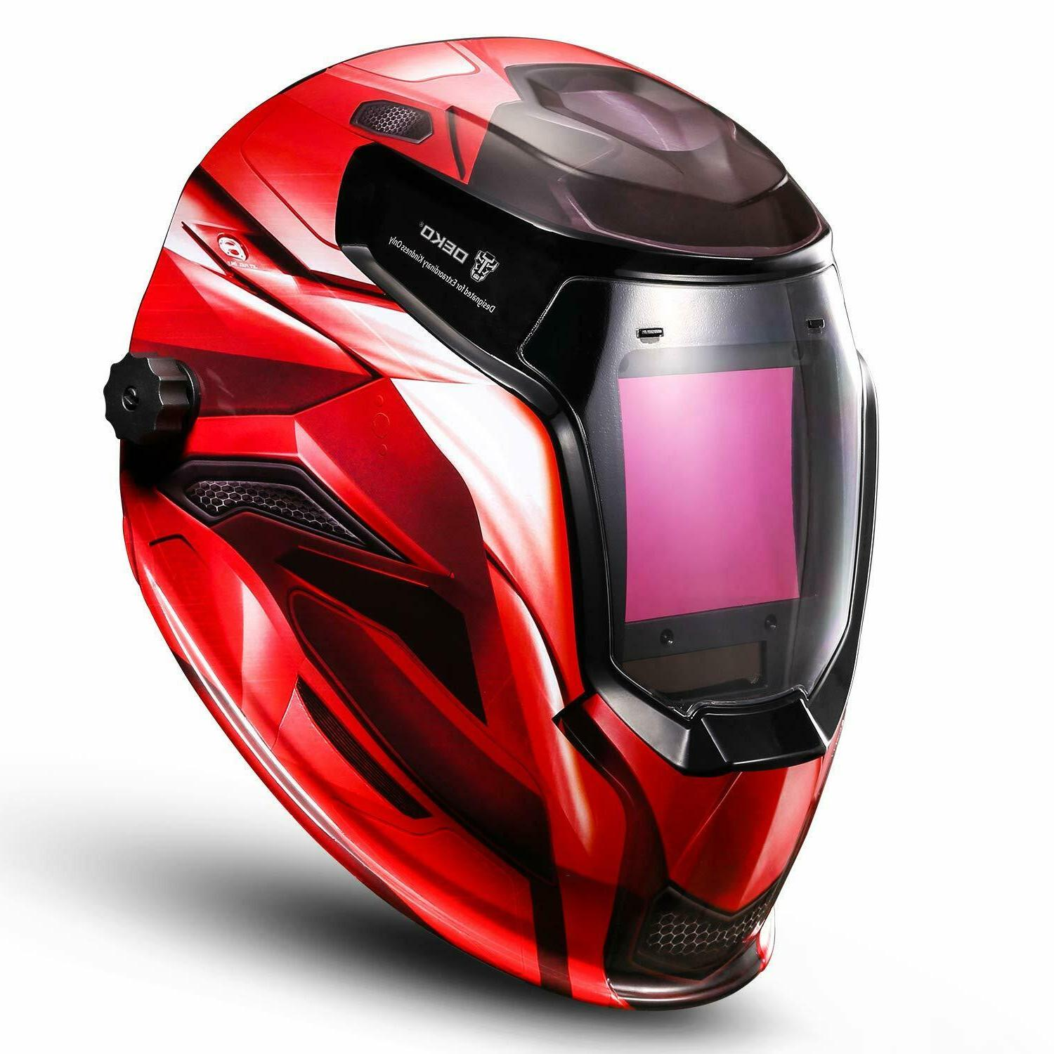 DEKO Auto Darkening Solar Powered Mig Tig Arc Welding Helmet