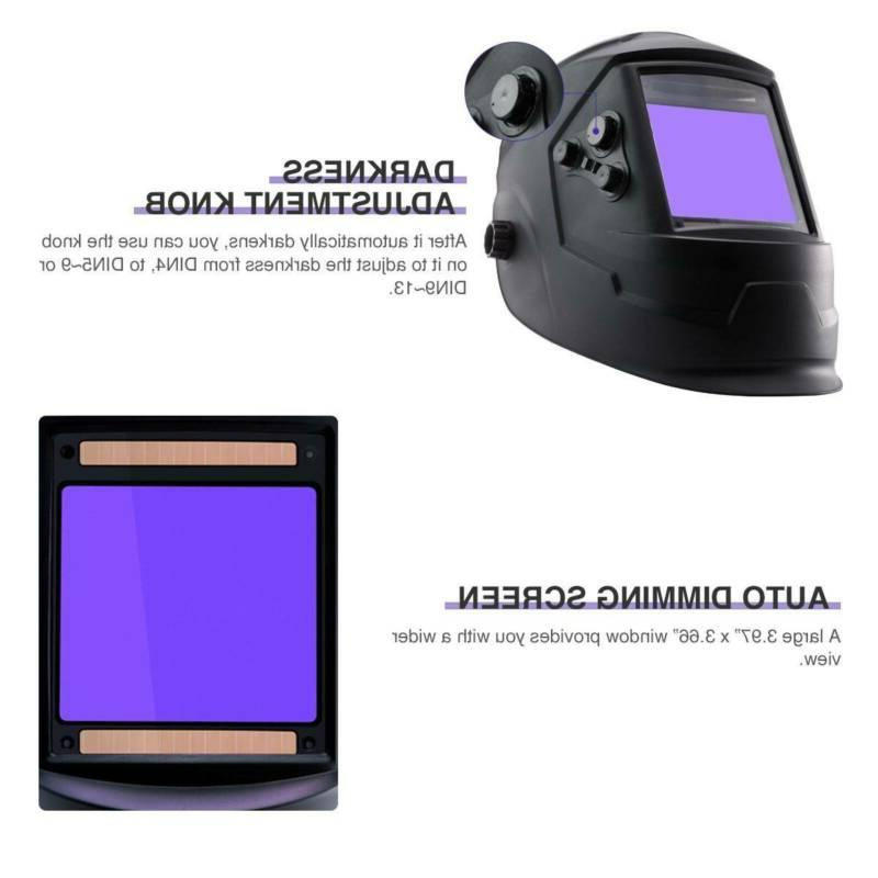 Auto-Darkening Welding Helmet Large View Area Welder