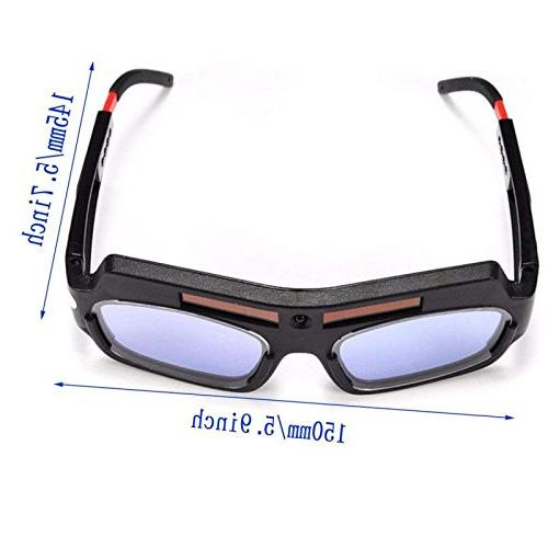 1 Pair Black Solar Auto Welding Safety Protective Mask Goggles Mask Anti-Flog Goggles