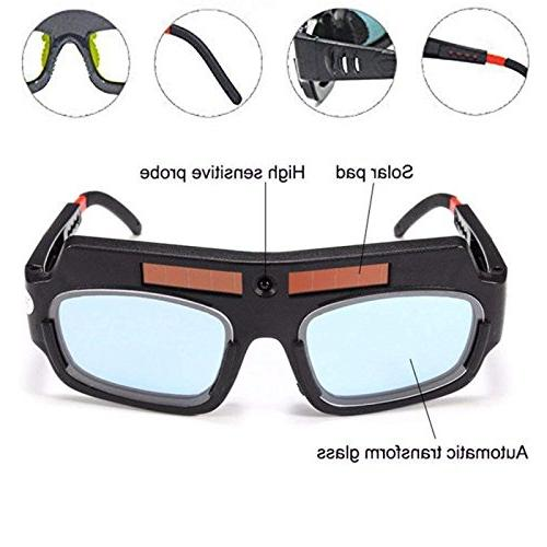 1 Pair Solar Auto Darkening Welding Goggle Safety Protective Welding Glasses Mask Helmet, Mask