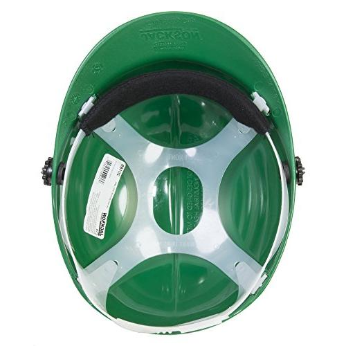 Jackson Cap with Attachment, Safety Hat for Minor Brow Pad, Green, Case