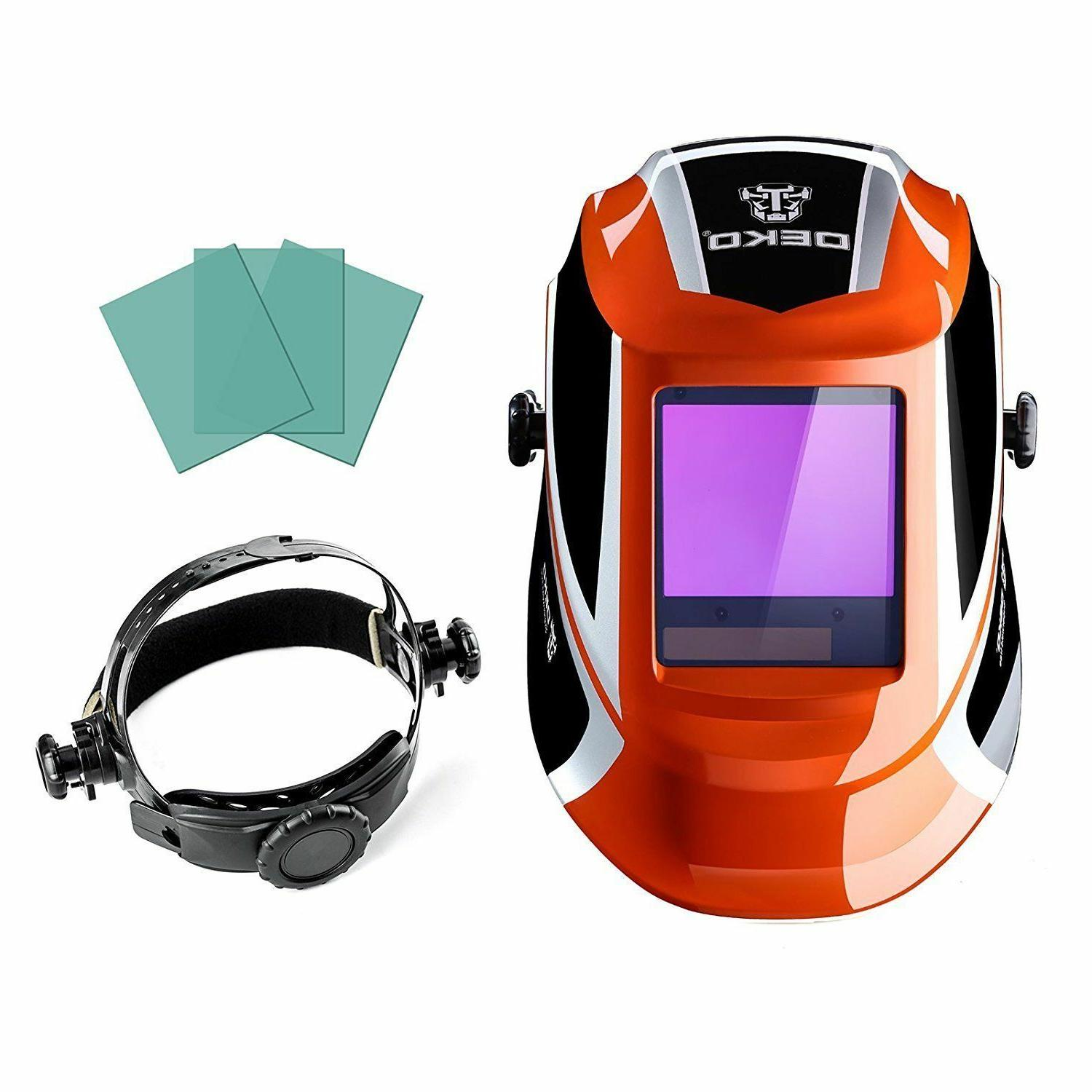 Deko Solar Powered Auto Darkening Lens Arc Tig Mig Welding H