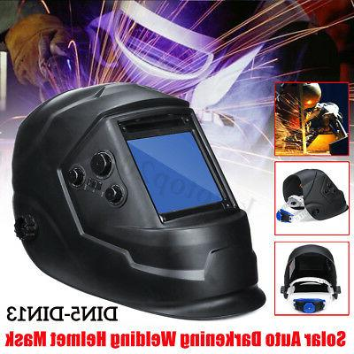 US Solar Auto Darkening Welding Helmet Arc Tig Mask Large Vi