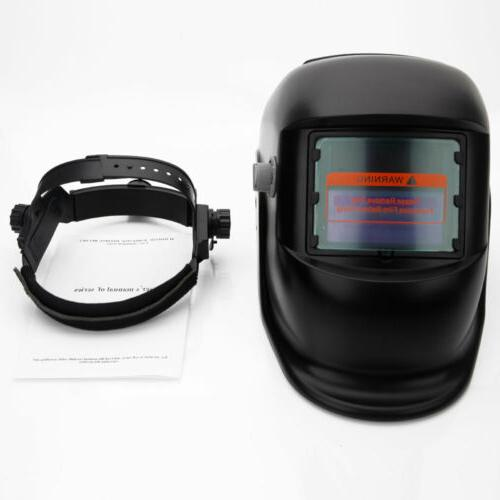 Large View Pro Solar Welder Mask Auto-Darkening Helmet USA