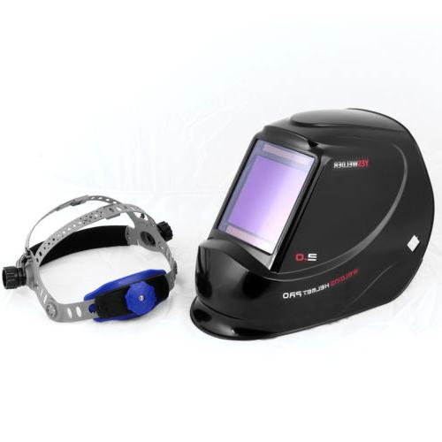 True Color View Solar Helmet Auto Darkening Mask