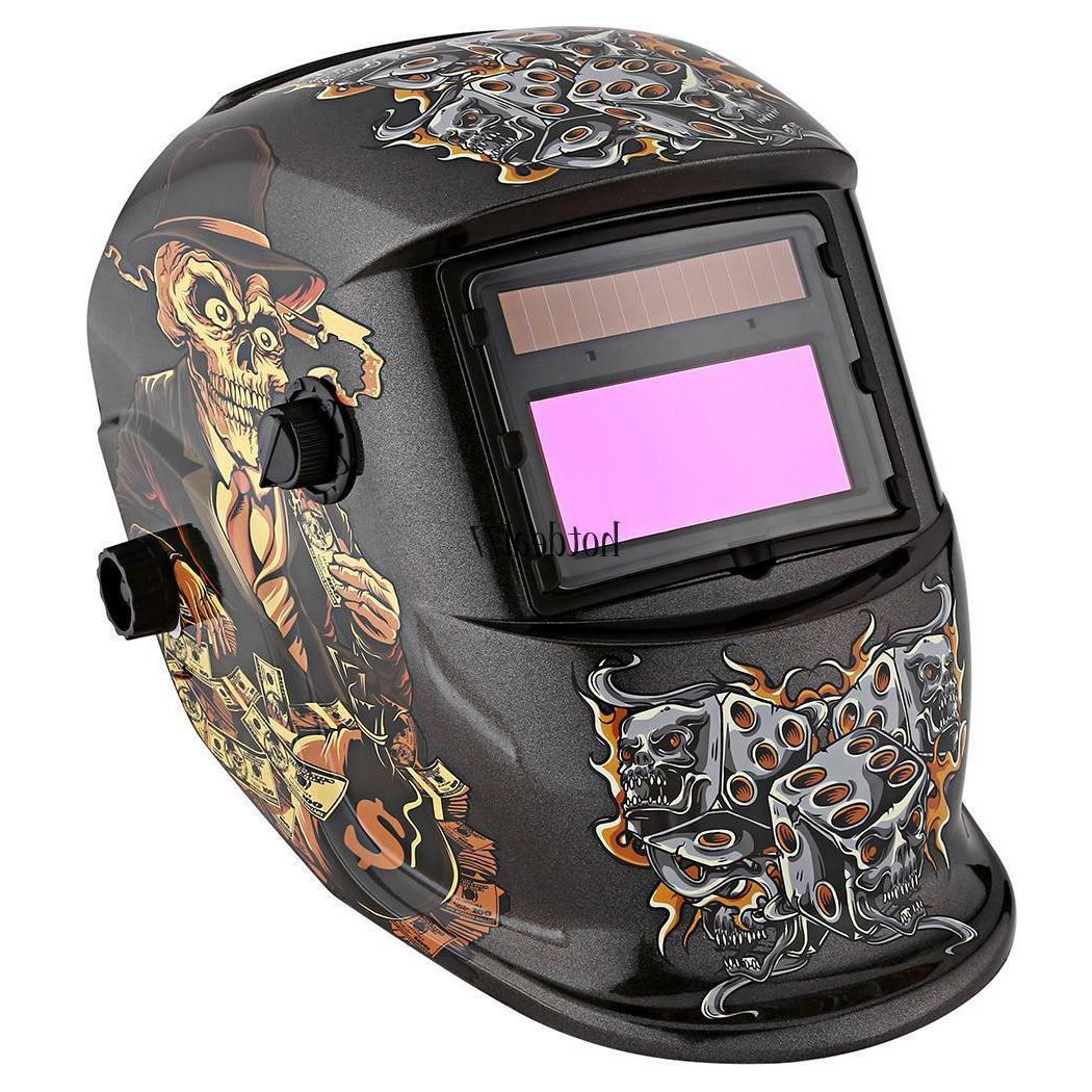 NEW Inch Viewing Area Solar Welder Mask Auto-darkening Helmet