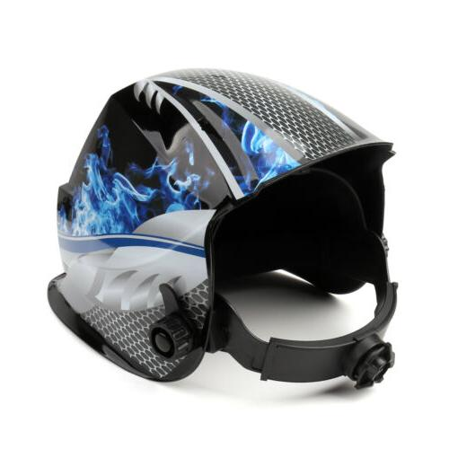 Pro Darkening Welding Helmet Big View Area 4 Sensors Arc Tig Mig