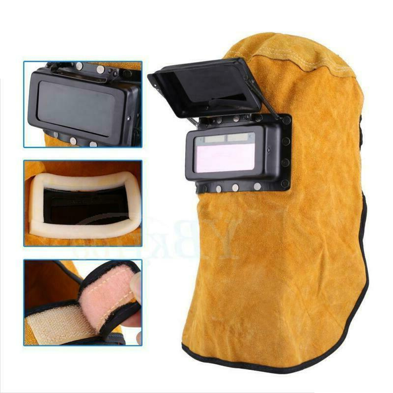 Solar Auto Darkening Filter Welder Leather Hood Welding Mask