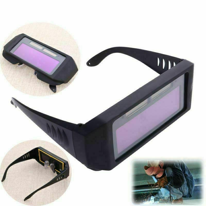 Solar Powered Mask Safety Goggles Darkening