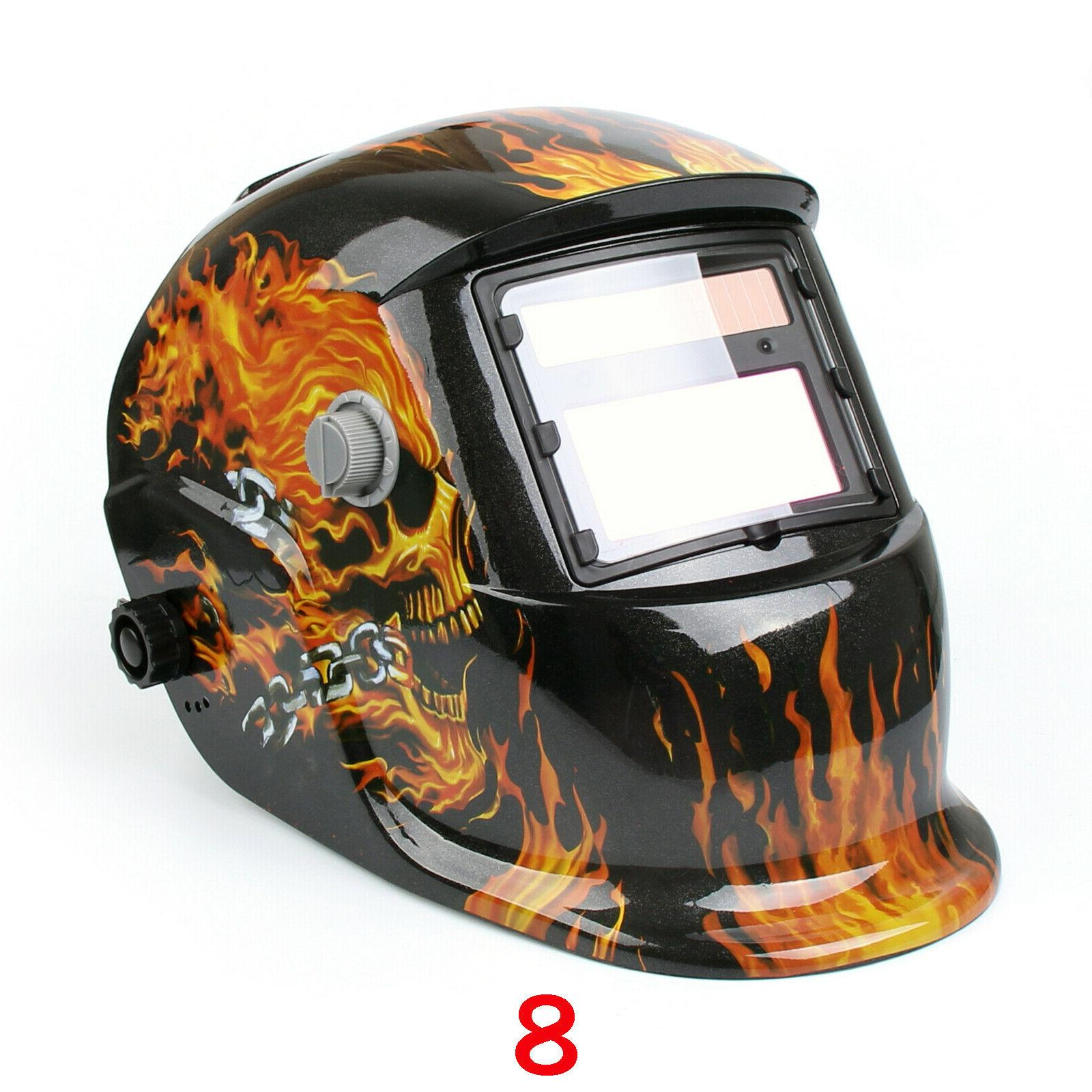 welding mask helmet auto darkening solar powered