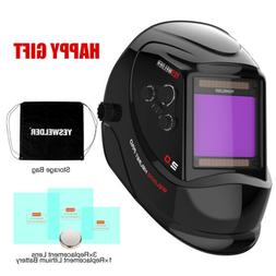 Large View Auto Darkening Welding Helmet True Color Weld Mas