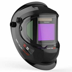 True Color Weld Mask Hood Auto Darkening Welding Helmet Side