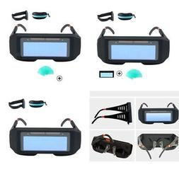 LCD Solar Power Auto Darkening Welding Goggle Safety Protect