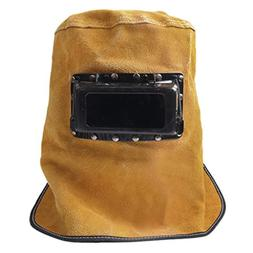 Comfortable Leather Welding Helmet, Welder Grinding Protecti