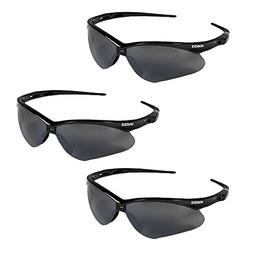 3 PAIR JACKSON NEMESIS 3000356 SAFETY GLASSES BLACK SMOKE MI