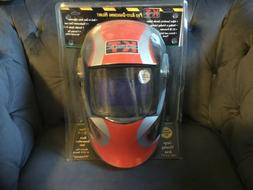 New KT Industries Red Pro Auto-Darkening Helmet Welding Mask