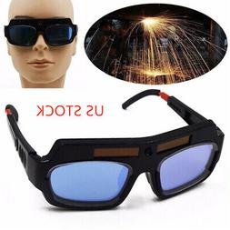PC lens Solar Powered Auto Darkening Welding Glasses Goggle