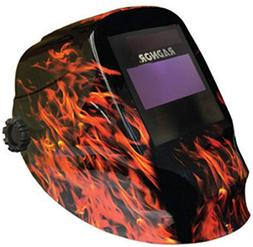 """Radnor RD48 Black Welding Helmet With 5"""" X 4"""" Variable Shade"""