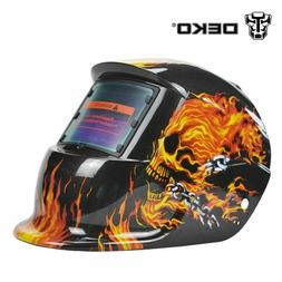 Solar Auto Darkening MIG MMA Orange Electric Mask Helmet Wel