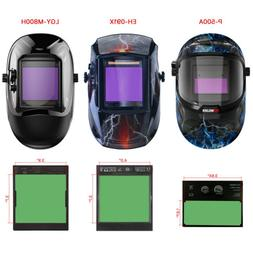 Solar Power Auto-Darkening Welding Helmet Welder Mask Wide S