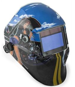 Solar Powered Auto Darkening Welding Helmet, Pin up girl / 5