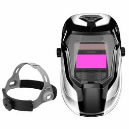 DEKO Solar Powered Welding Helmet Auto Darkening Hood for Mi