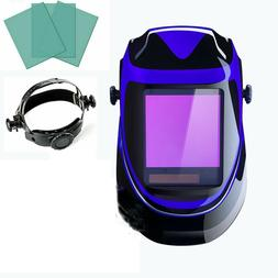 solar powered welding helmet auto darkening professional