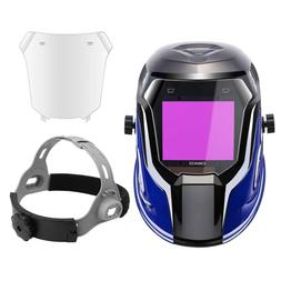 Solar Powered Welding Helmet Auto Darkening Professional Hoo