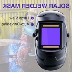 Super Large View Welding Helmet Auto-Darkening Solar Powered