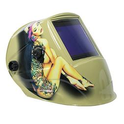 TGR Extra Large View Auto Darkening Welding Helmet - Tattoo