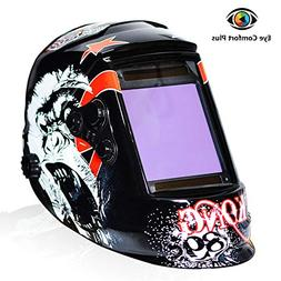 Tekware Welding Helmet 4C Lens Technology Solar Power Auto D