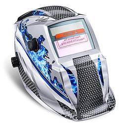 welding helmet solar powered