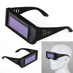 Solar Powered Auto Darkening Welding Mask Helmet Eyes Goggle